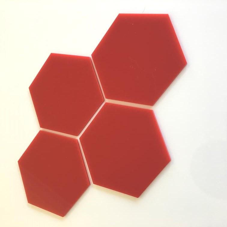 Hexagon Tiles - Red