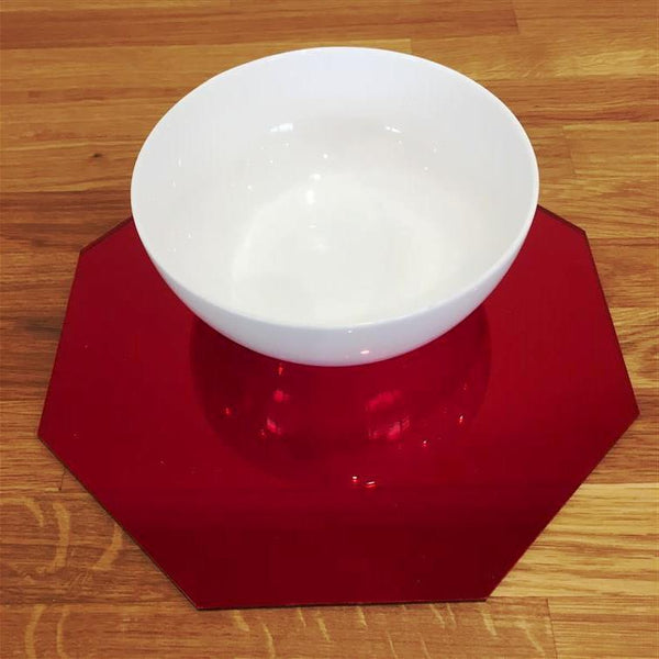 Octagonal Placemat Set - Red Mirror