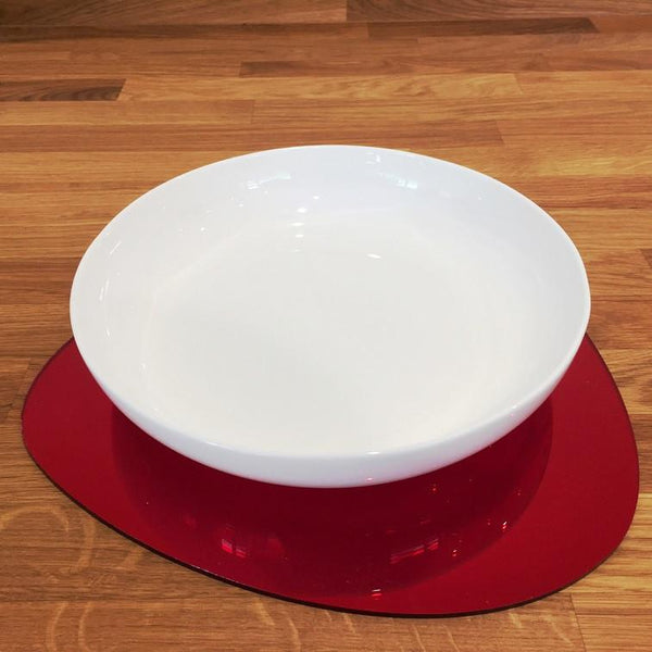 Pebble Shaped Placemat Set - Red Mirror
