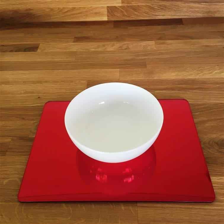 Rectangular Placemat Set - Red Mirror