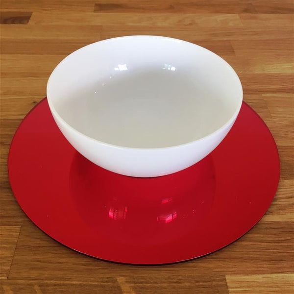 Round Placemat Set - Red Mirror