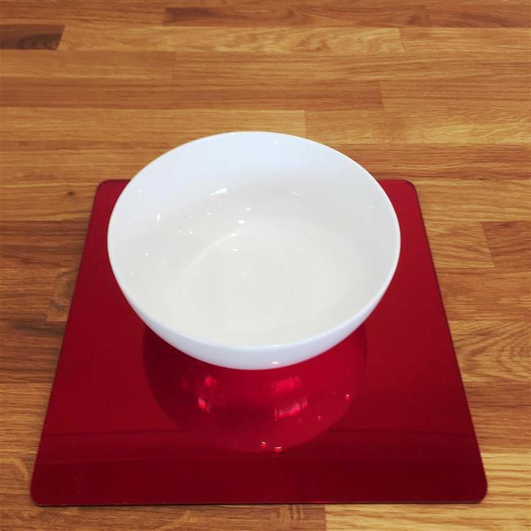 Square Placemat Set - Red Mirror