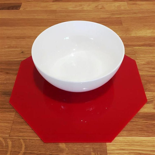 Octagonal Placemat Set - Red