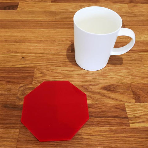 Octagonal Coaster Set - Red