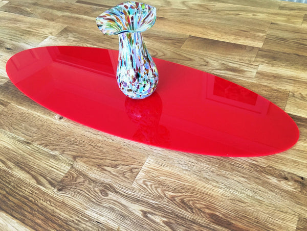 Red Oval Acrylic Table Runner