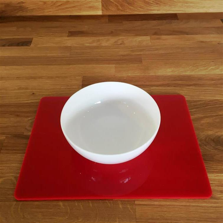 Rectangular Placemat Set - Red