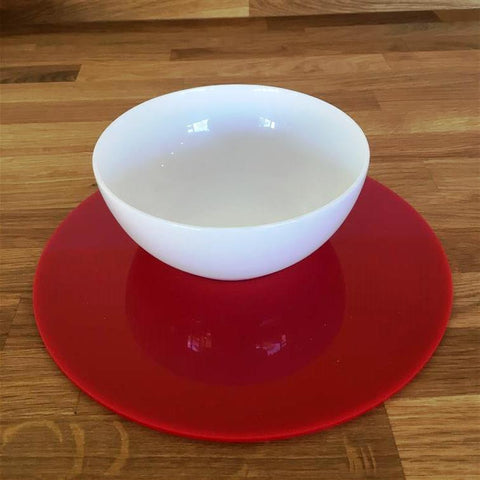 Round Placemat Set - Red