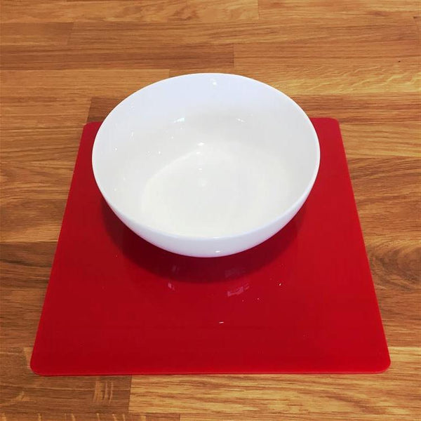 Square Placemat Set - Red