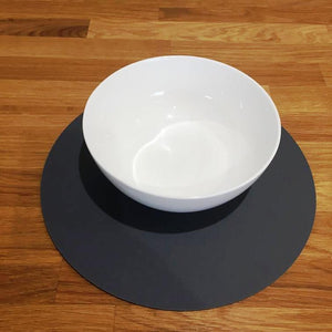Round Placemat Set - Graphite Grey