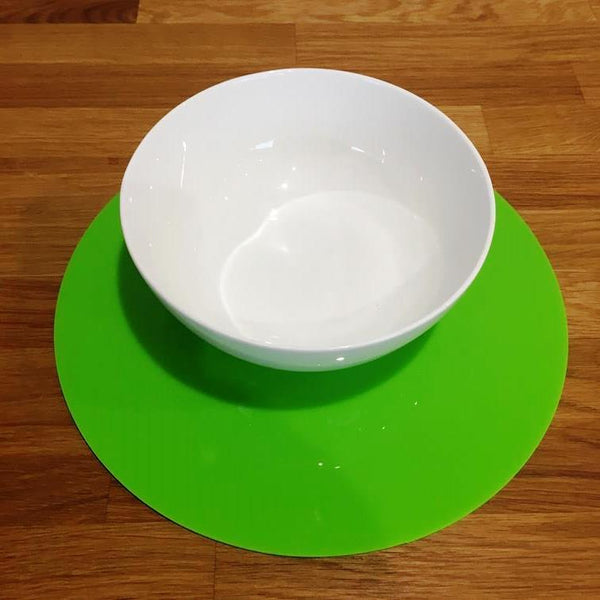 Round Placemat Set - Lime Green
