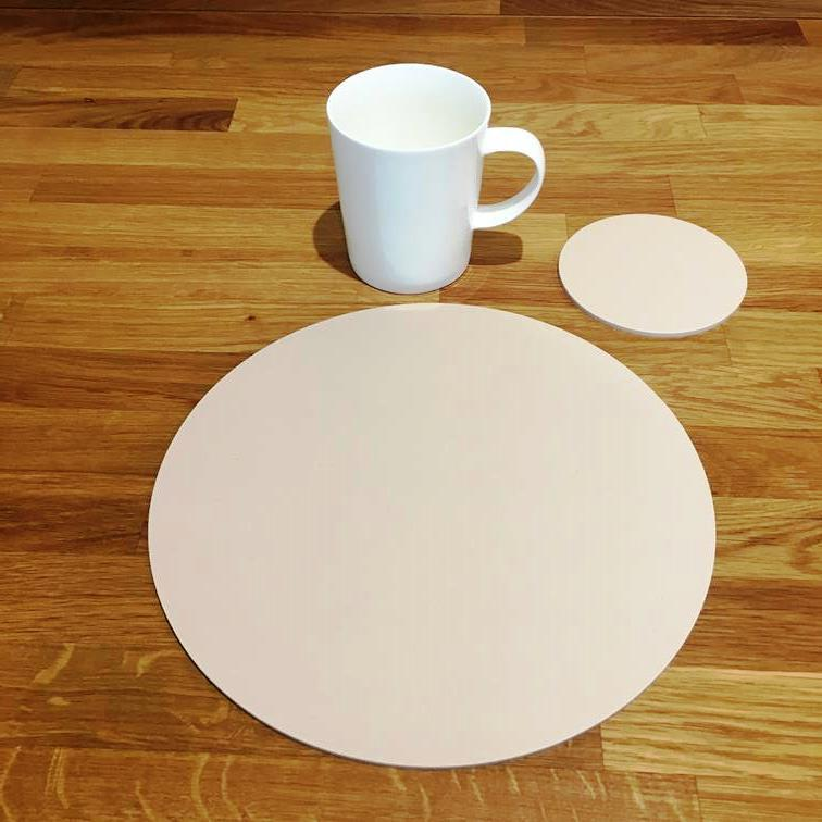 Round Placemat and Coaster Set - Latte