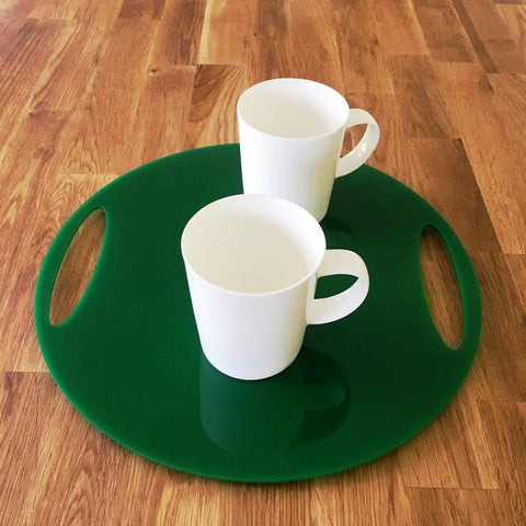 Round Flat Serving Tray - Green