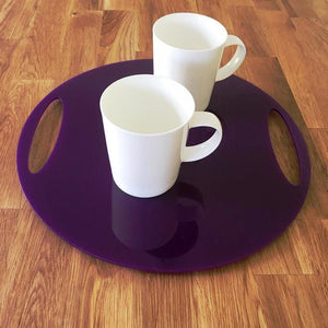Round Flat Serving Tray - Purple