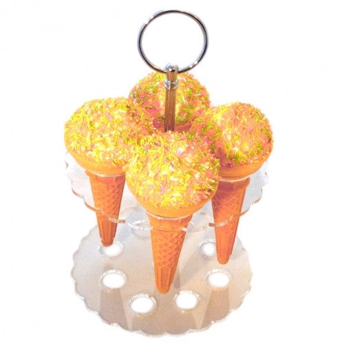 4 or 8 Dual Ice Cream Cone Party Stand