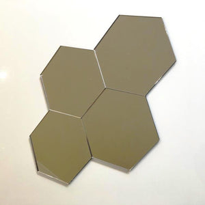 Hexagon Tiles - Silver Mirror