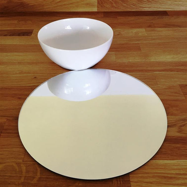 Round Placemat Set - Mirrored