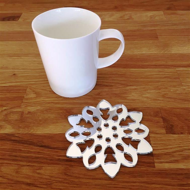 Snowflake Shaped Coaster Set - Mirrored