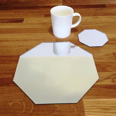 Octagonal Placemat and Coaster Set - Mirrored