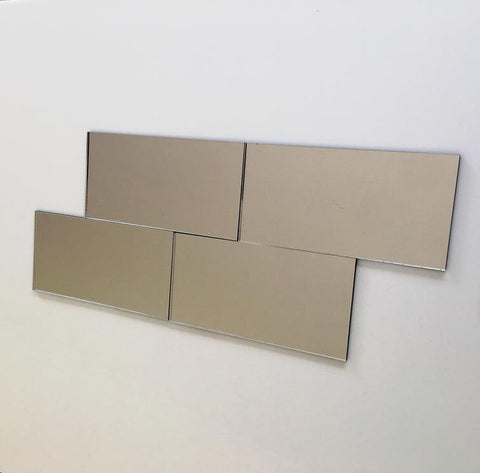 Rectangular Tiles - Silver Mirror