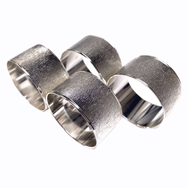 Silver Textured Napkin Rings