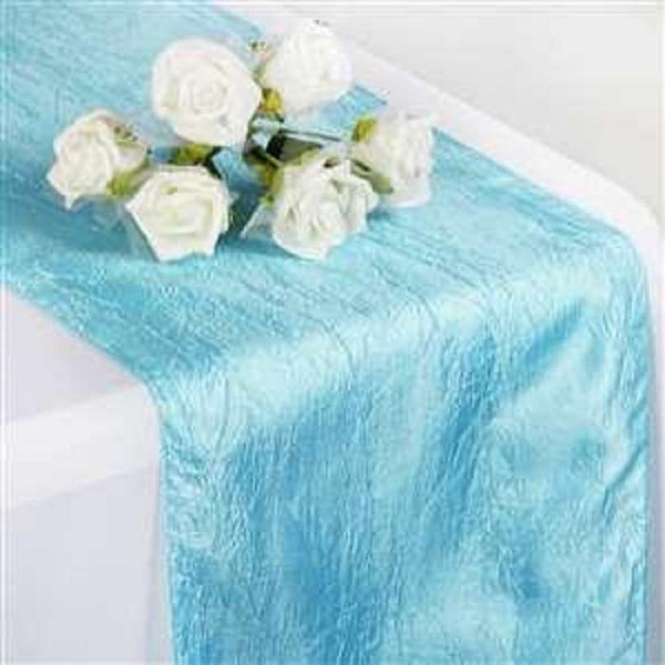 Sky Blue Taffeta Table Runner