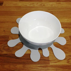 Splash Shaped Placemat Set - Light Grey
