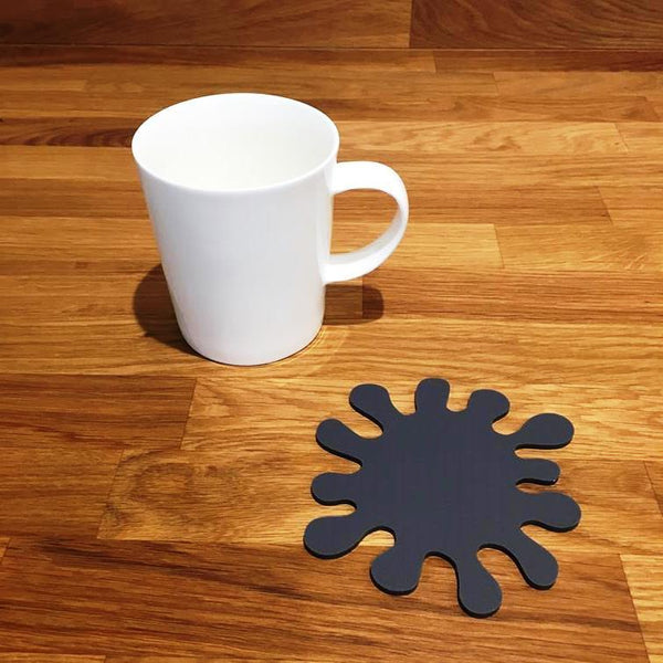 Splash Shaped Coaster Set - Graphite Grey
