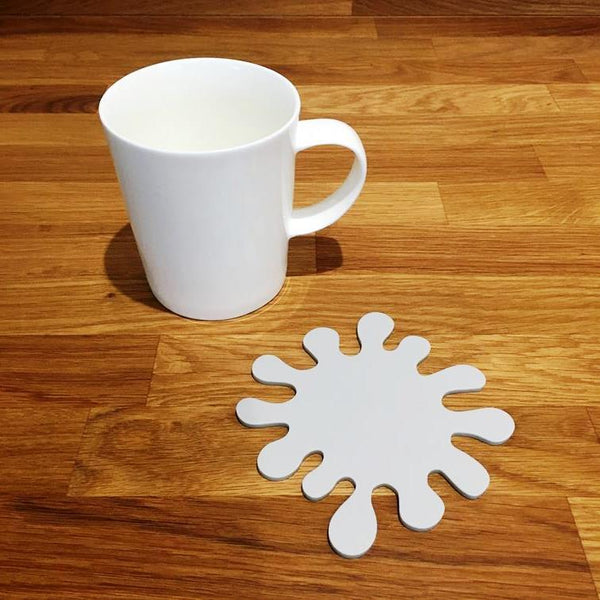 Splash Shaped Coaster Set - Light Grey