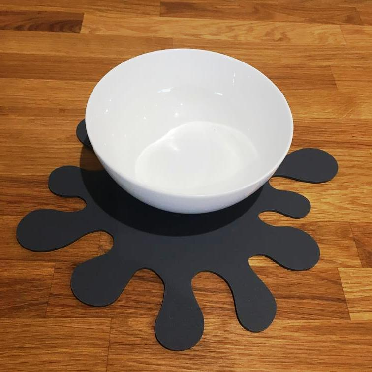 Splash Shaped Placemat Set - Graphite Grey