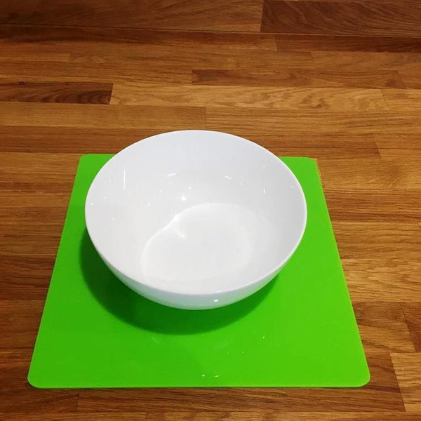 Square Placemat Set - Lime Green