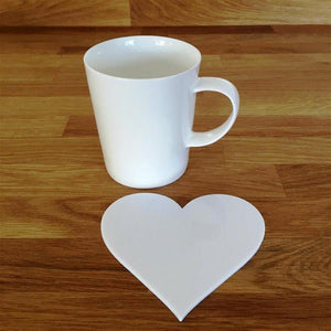 Heart Shaped Coaster Set - White