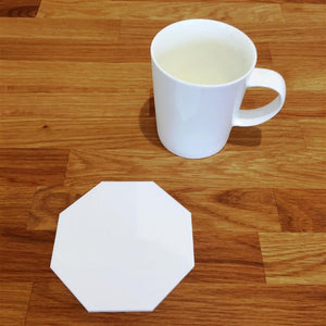 Octagonal Coaster Set - White