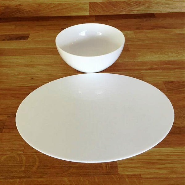 Oval Placemat Set - White