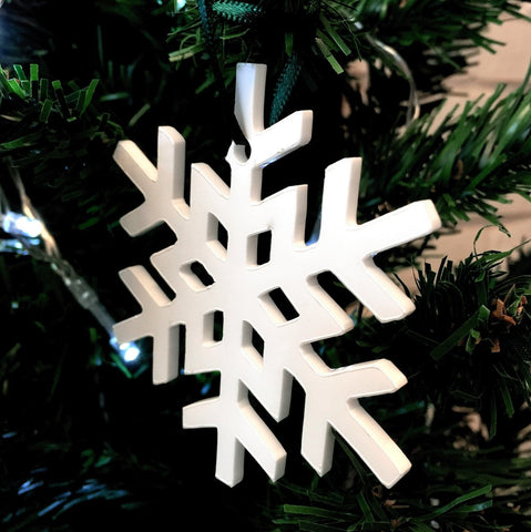 Crystal Snowflake Christmas Tree Decorations