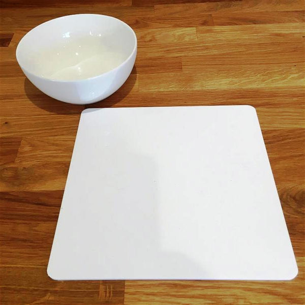 Square Placemat Set - White