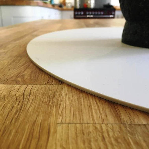 Oval Worktop Saver - Latte