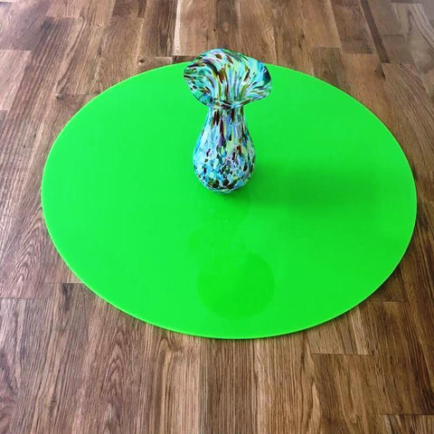 Round Worktop Saver - Lime Green