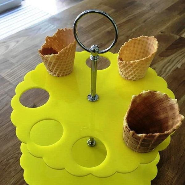 Ice Cream Cone Stand - Yellow
