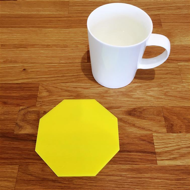 Octagonal Coaster Set - Yellow