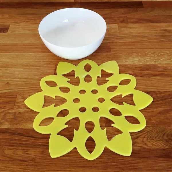 Snowflake Shaped Placemat Set - Yellow