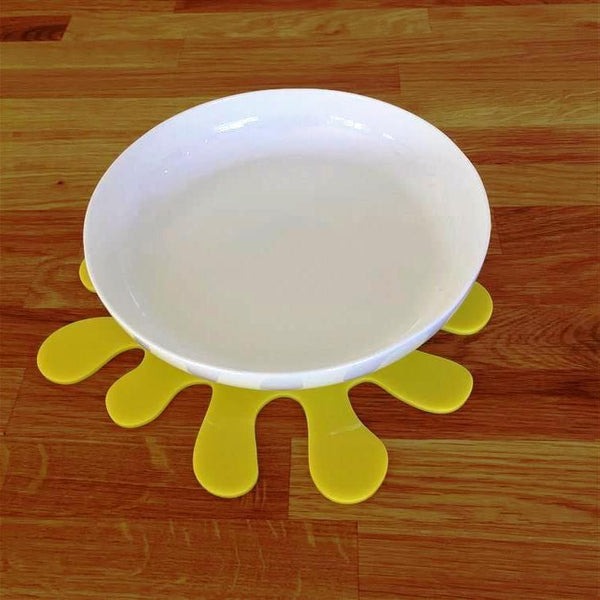Splash Shaped Placemat Set - Yellow