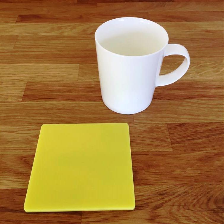 Square Coaster Set - Yellow