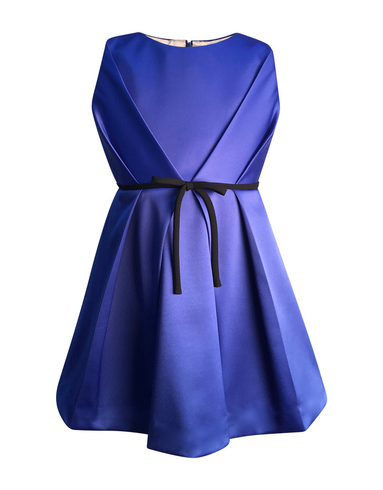 Helena and Harry Girl's Bright Royal Satin Dress