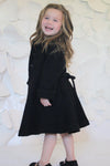 Helena and Harry Girl's Black Boucle Coat