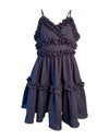 Helena and Harry Girl's Navy Ruffled Cotton Sundress