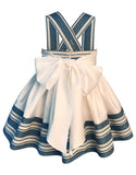 Helena and Harry Girl's Blue and White Striped Sundress