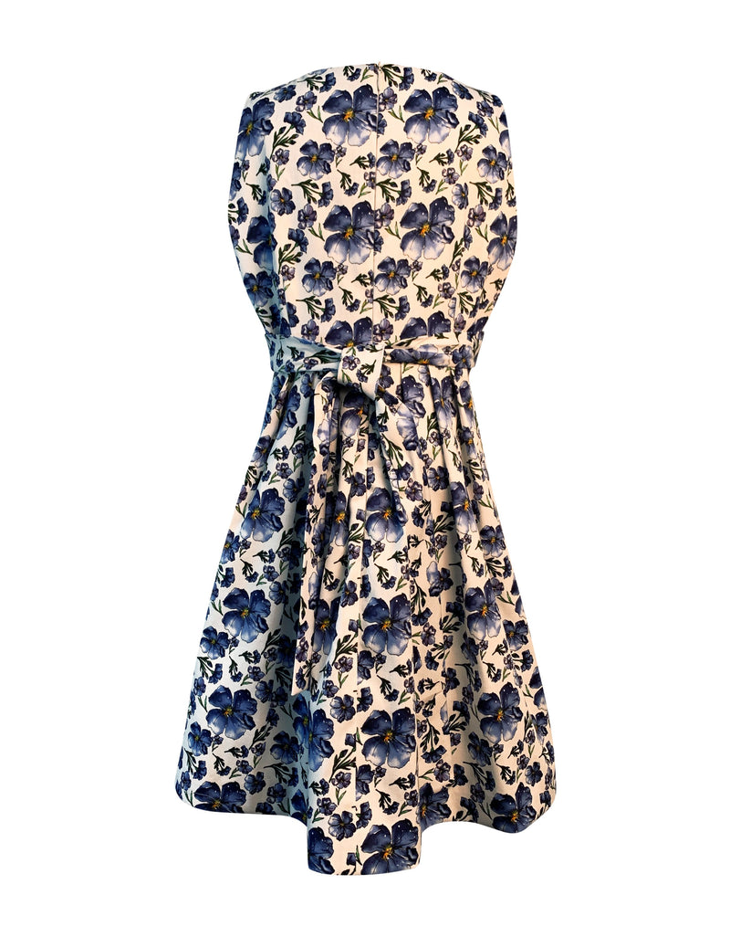 Helena and Harry Girl's Blue and White Print Dress