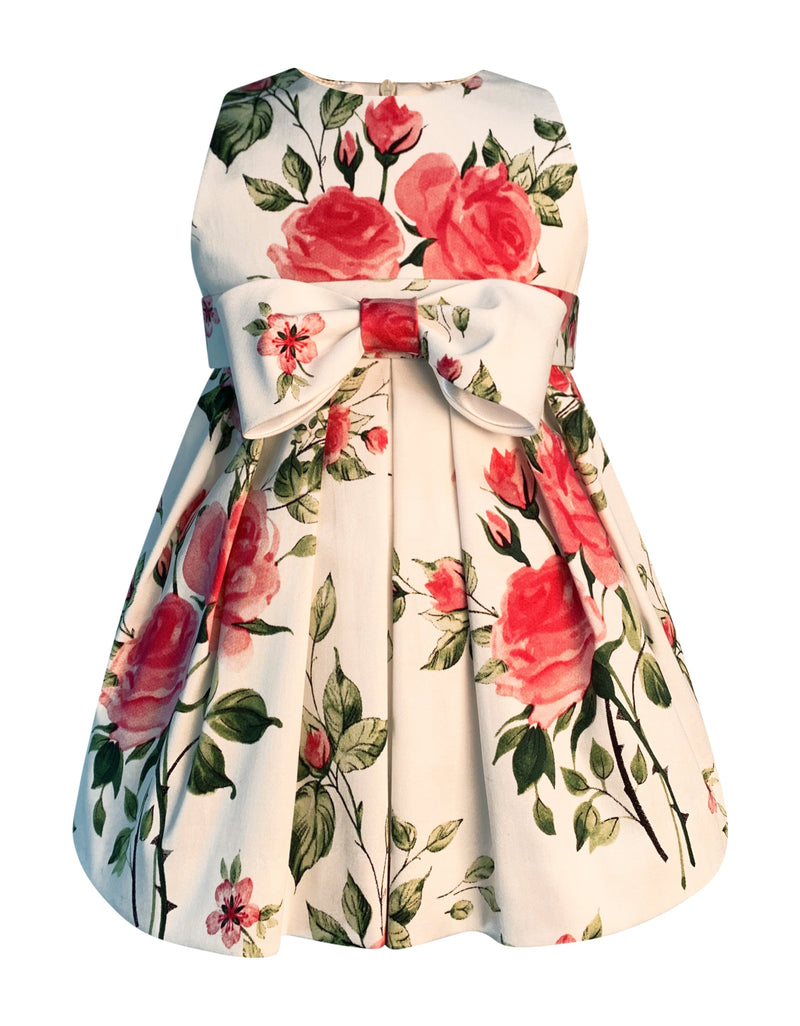 Helena and Harry Girl's Pink Rose Print Dress