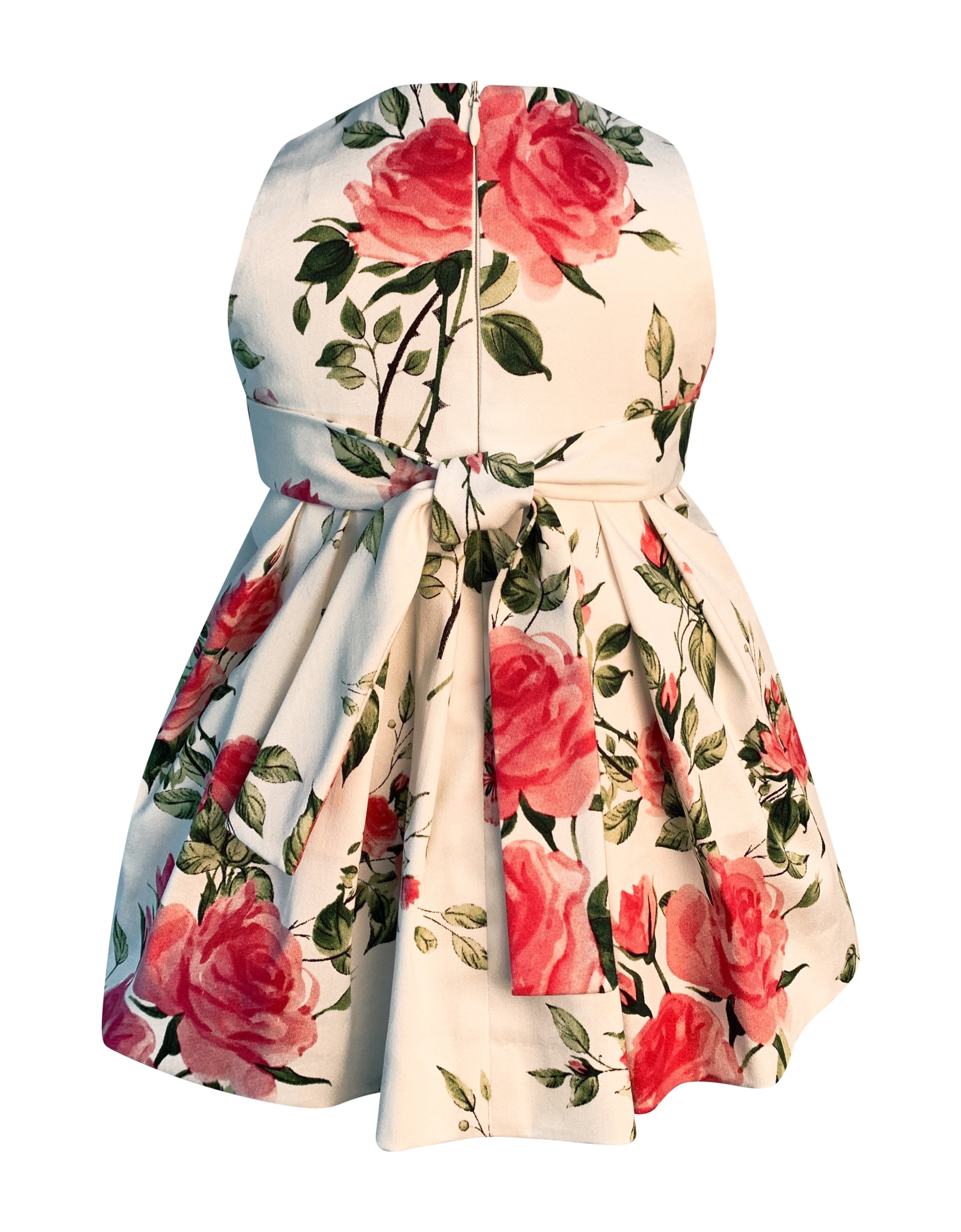 Helena and Harry Girl's Petal Pink Rose Print Dress