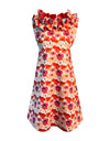 Helena and Harry Girl's Red and Fuchsia Cotton Print Dress